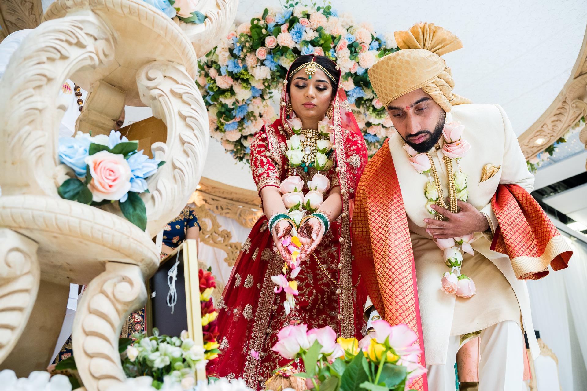 Final prayers during wedding