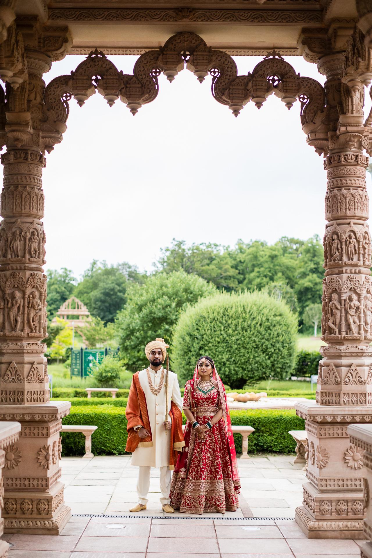 Asian wedding portrait at Oshwal centre