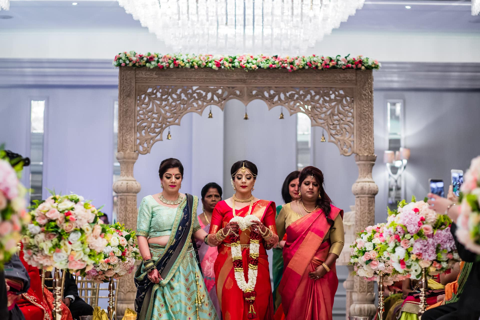 Second arrival of bride during South Indian wedding ceremony