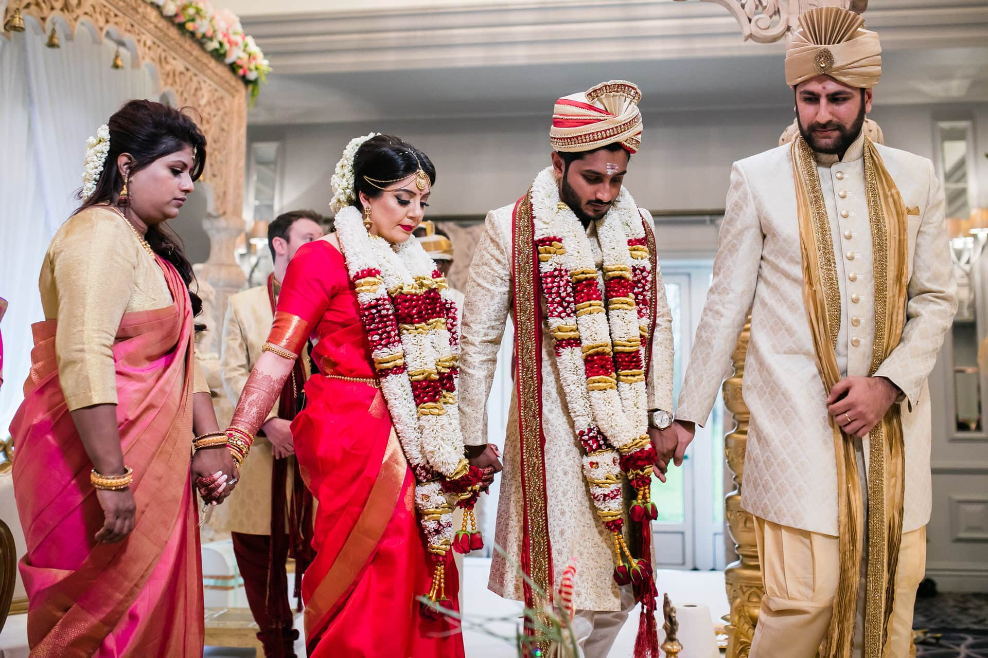 Bride and groom during the pheras