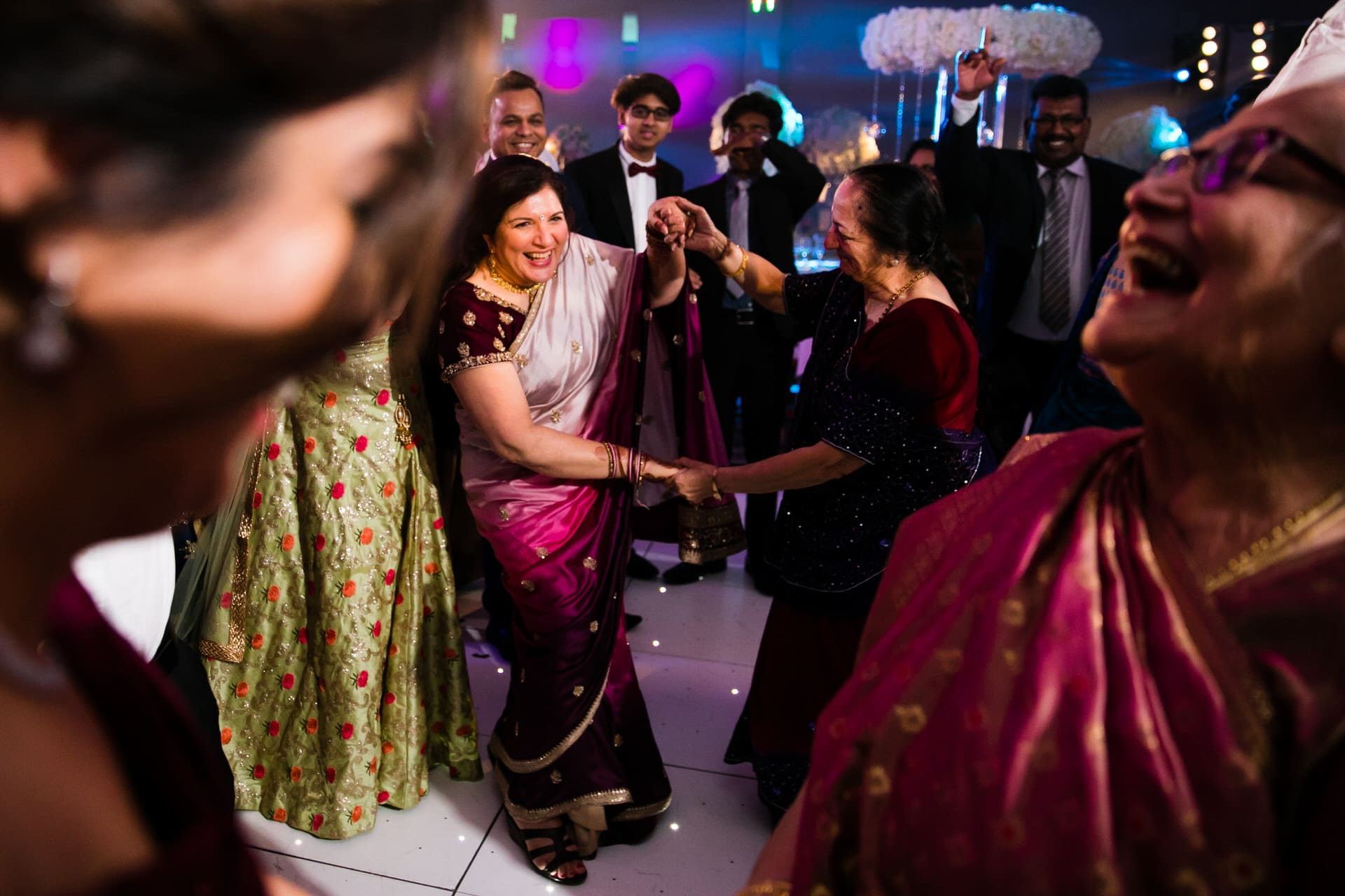 Asian wedding reception party at Sopwell House