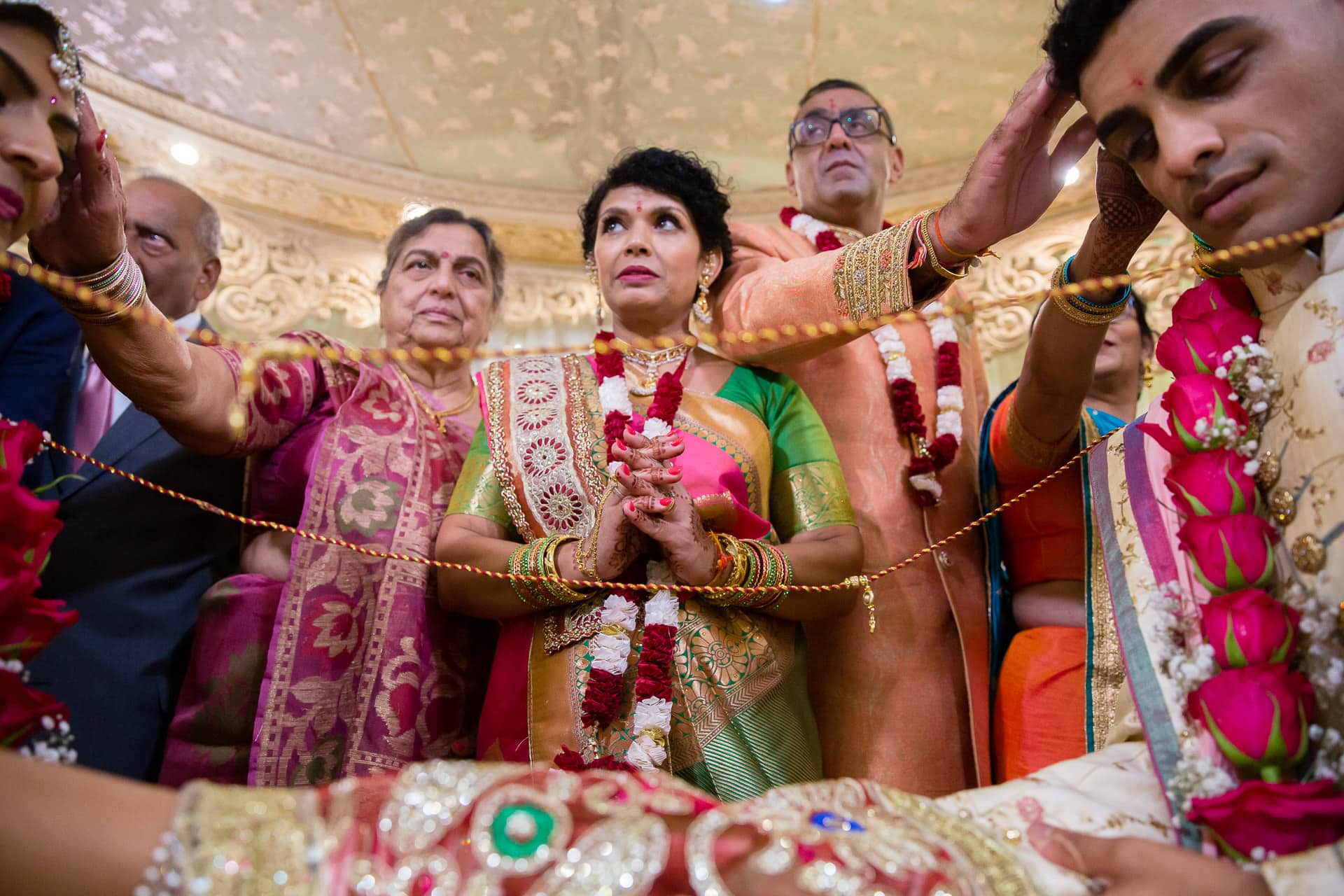 Mother of bride giving blessings