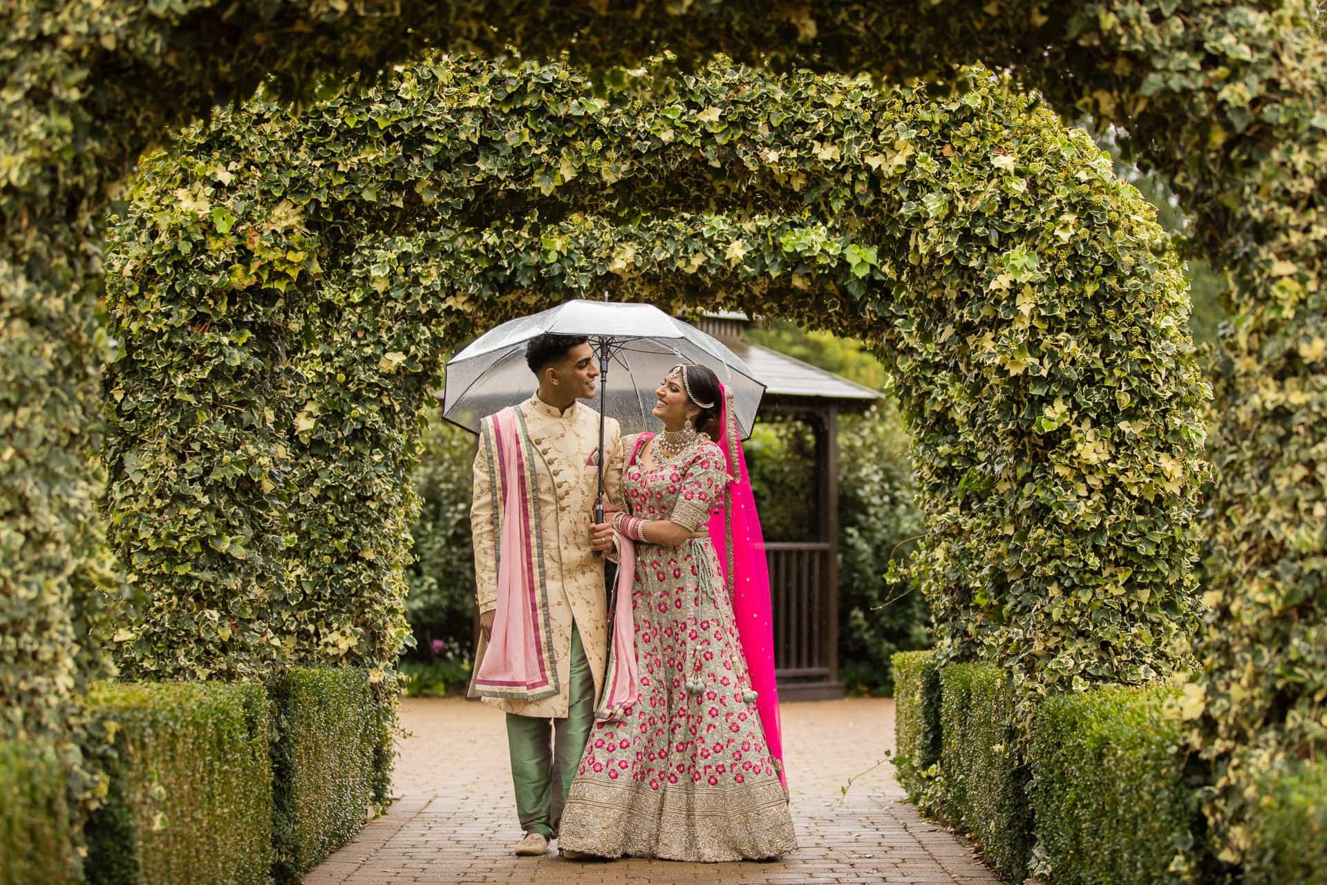 Hindu wedding portrait at Tewinbury farm
